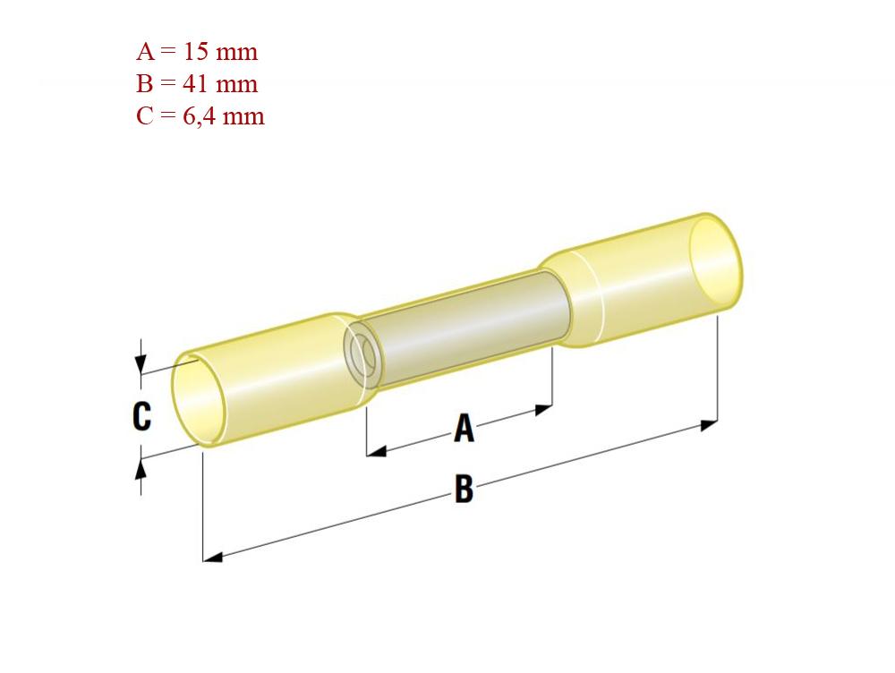 Szybkozłącze termokurczliwe 2,5-6,0 mm wymiary